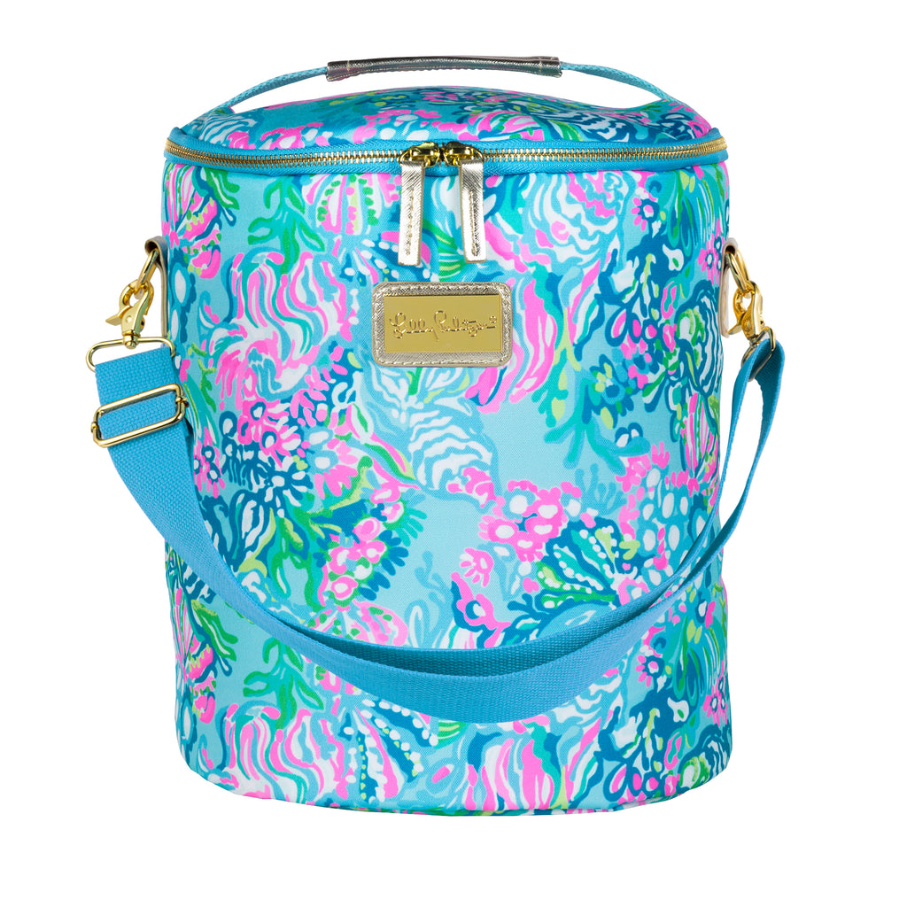 Lilly Pulitzer Beach Cooler, Aqua La Vista