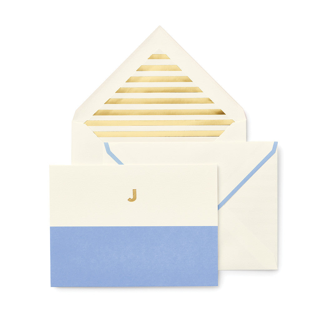 kate spade new york dipped initial foldover notes - initial J