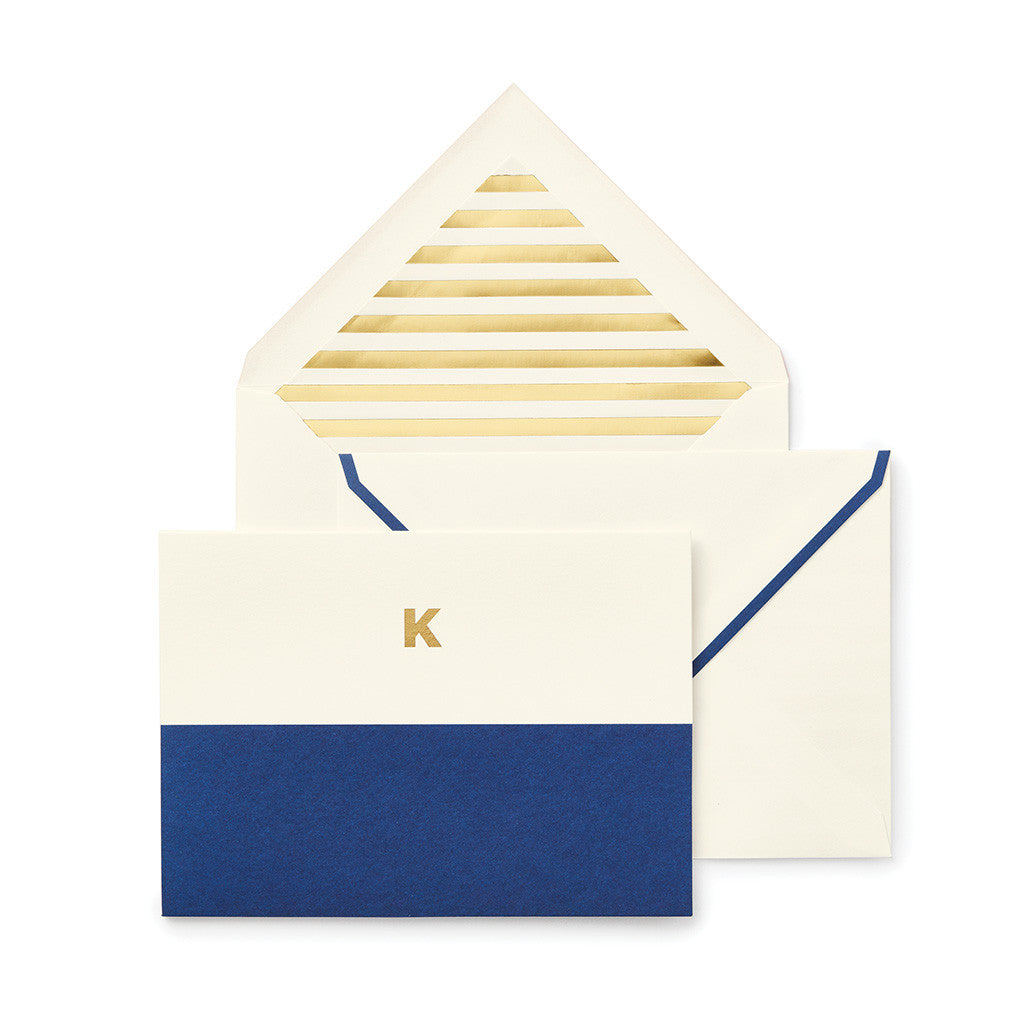 kate spade new york dipped initial foldover notes - initial K