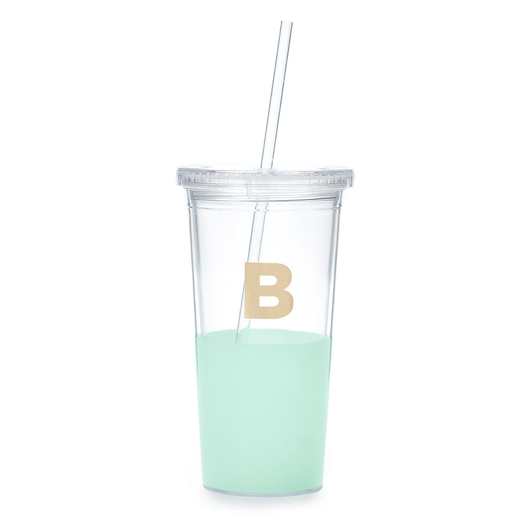 kate spade new york dipped initial insulated tumbler - B - lifeguard-press