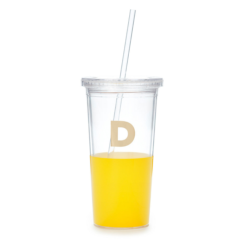 kate spade new york dipped initial insulated tumbler  - D - lifeguard-press