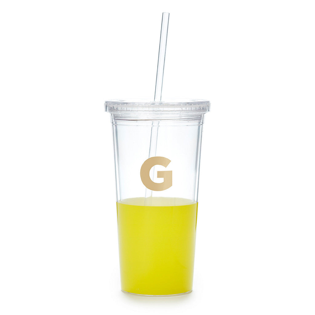 kate spade new york dipped initial insulated tumbler  - G - lifeguard-press