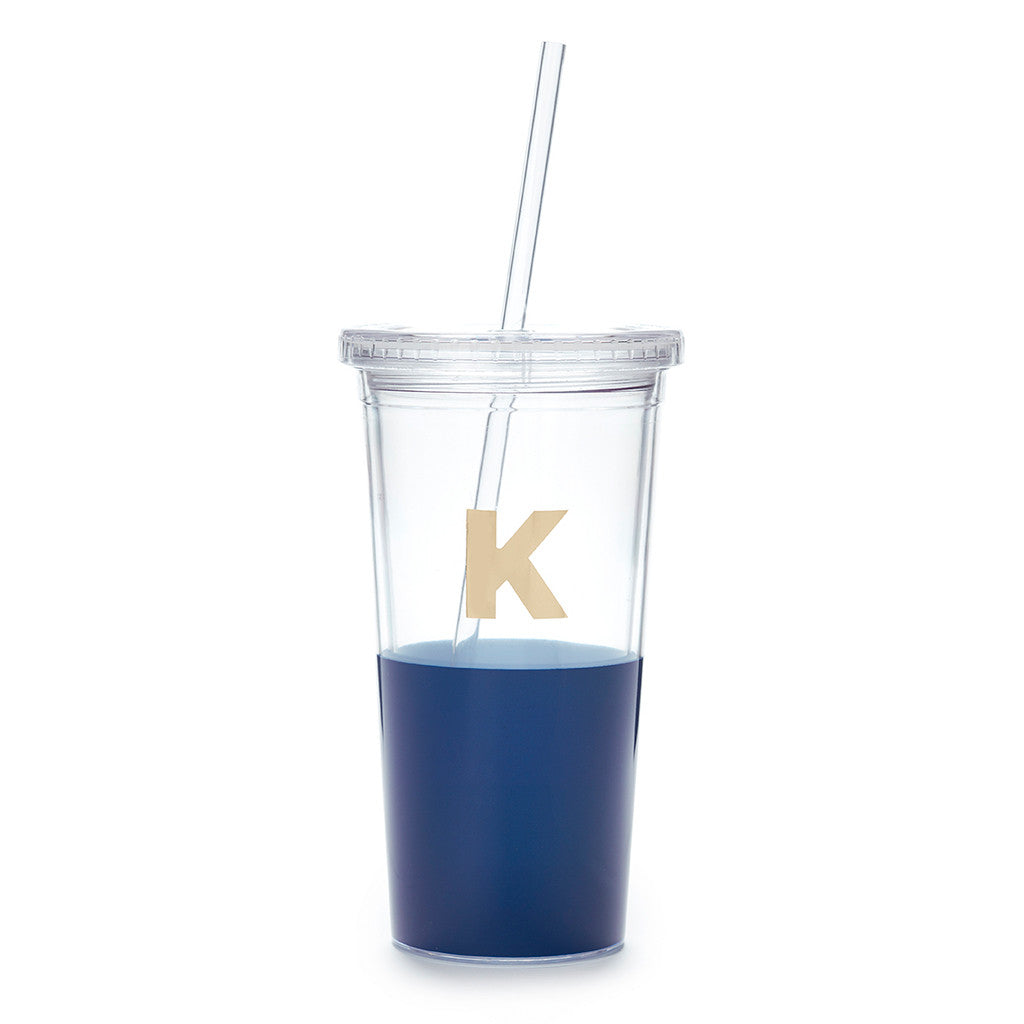 kate spade new york dipped initial insulated tumbler  - K - lifeguard-press