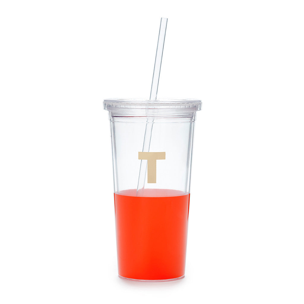 kate spade new york dipped initial insulated tumbler  - T - lifeguard-press