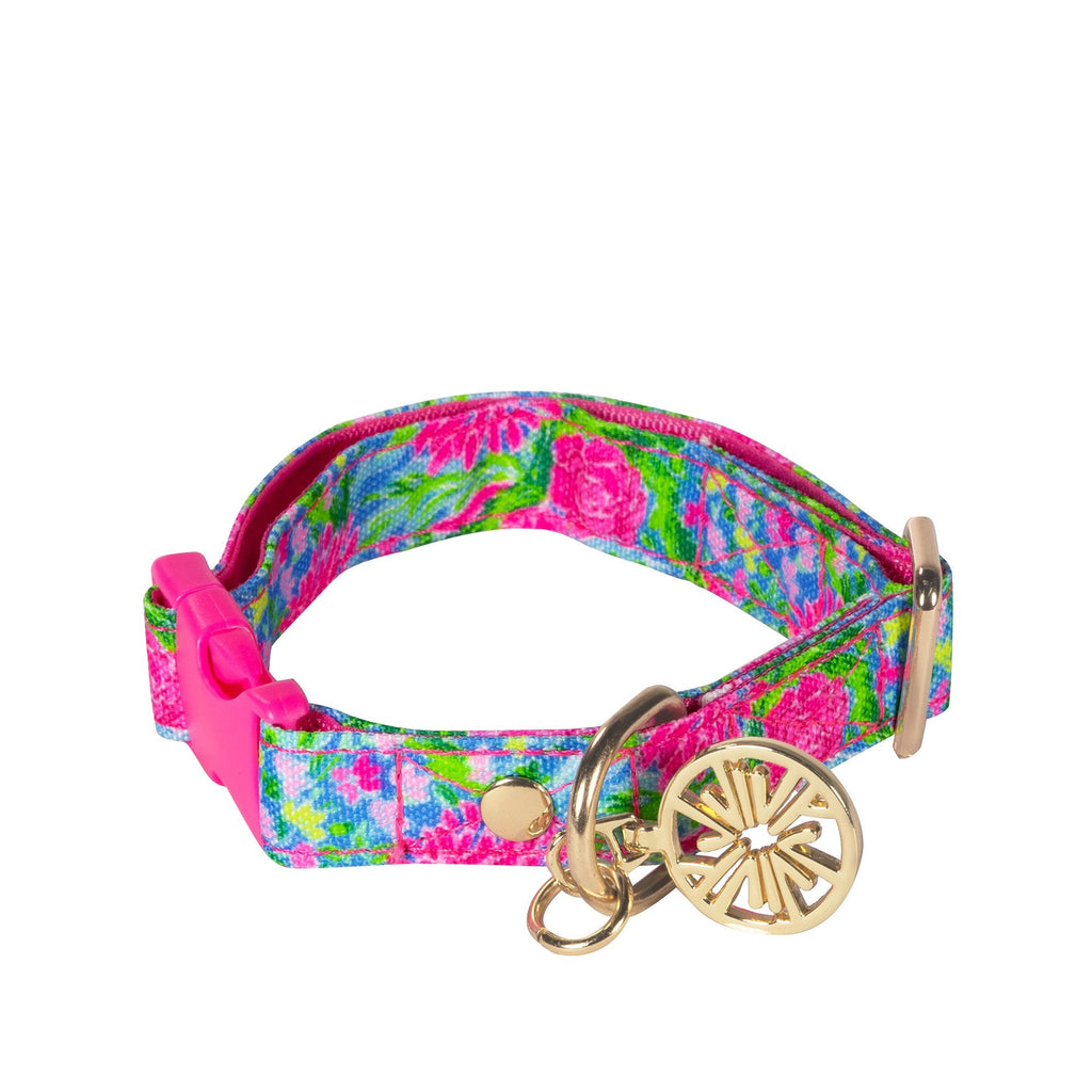Lilly Pulitzer Dog Collar Small/Medium, Bunny Business