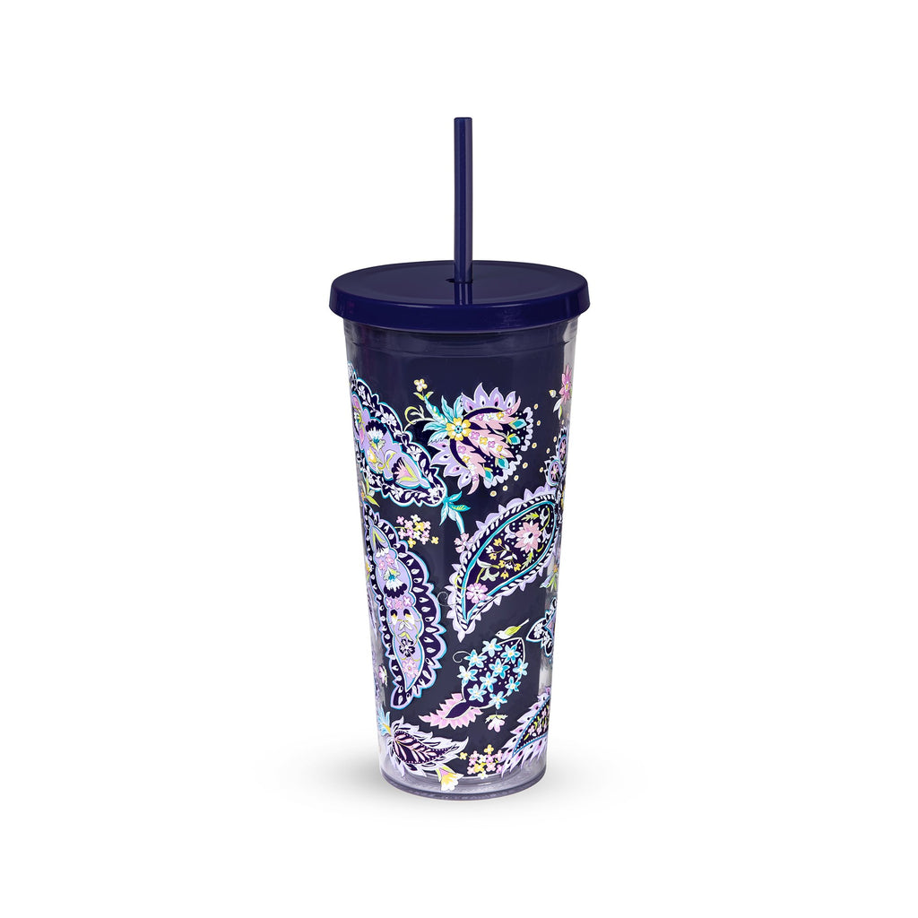 Vera Bradley Tumbler with Straw, French Paisley