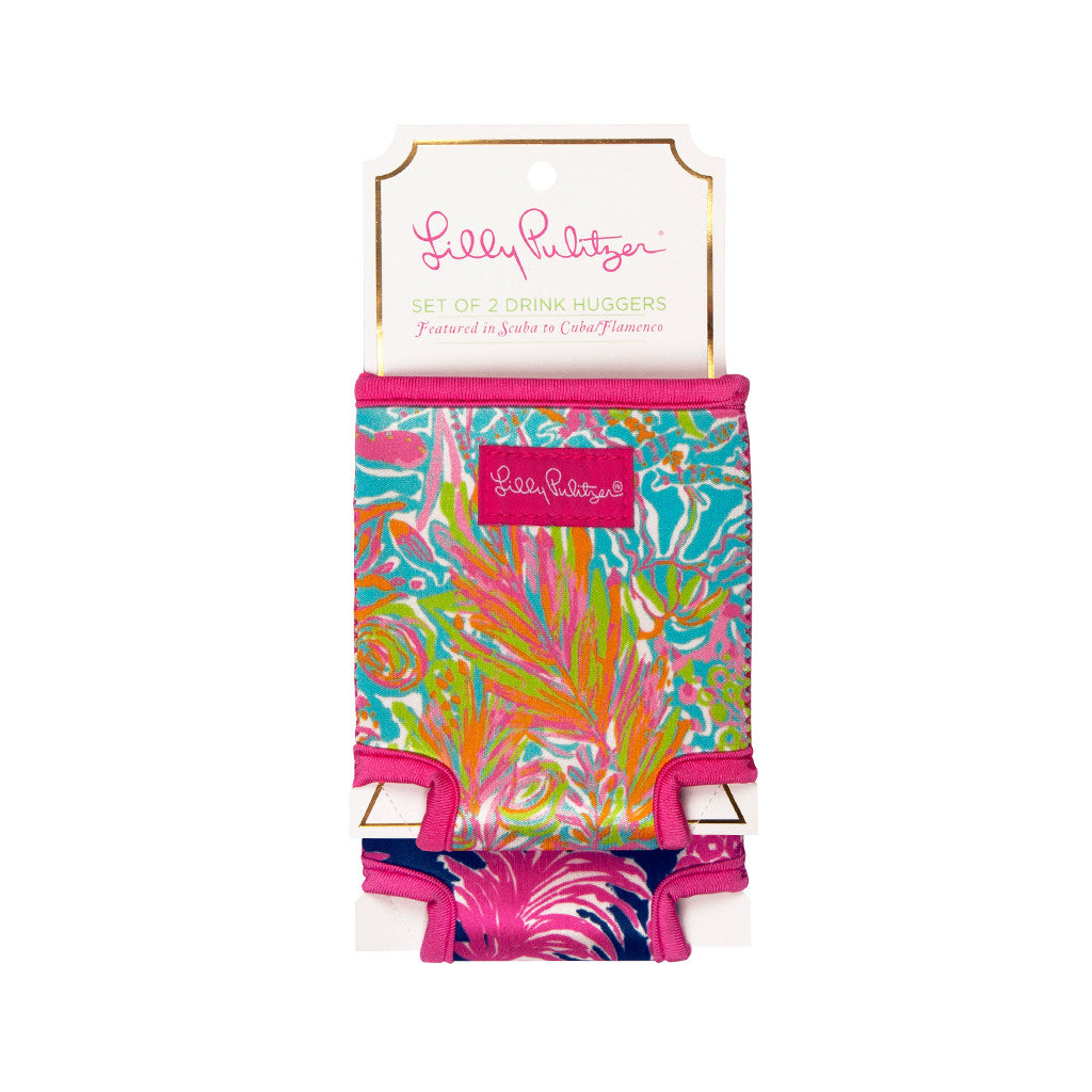 Lilly Pulitzer Drink Hugger Set - Flamenco/Scuba to Cuba - lifeguard-press