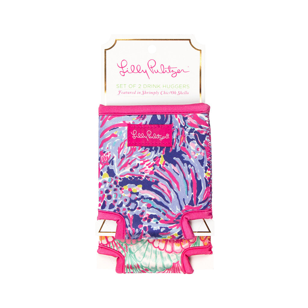 Lilly Pulitzer Drink Hugger Set - Shrimply Chic/Oh Shello - lifeguard-press