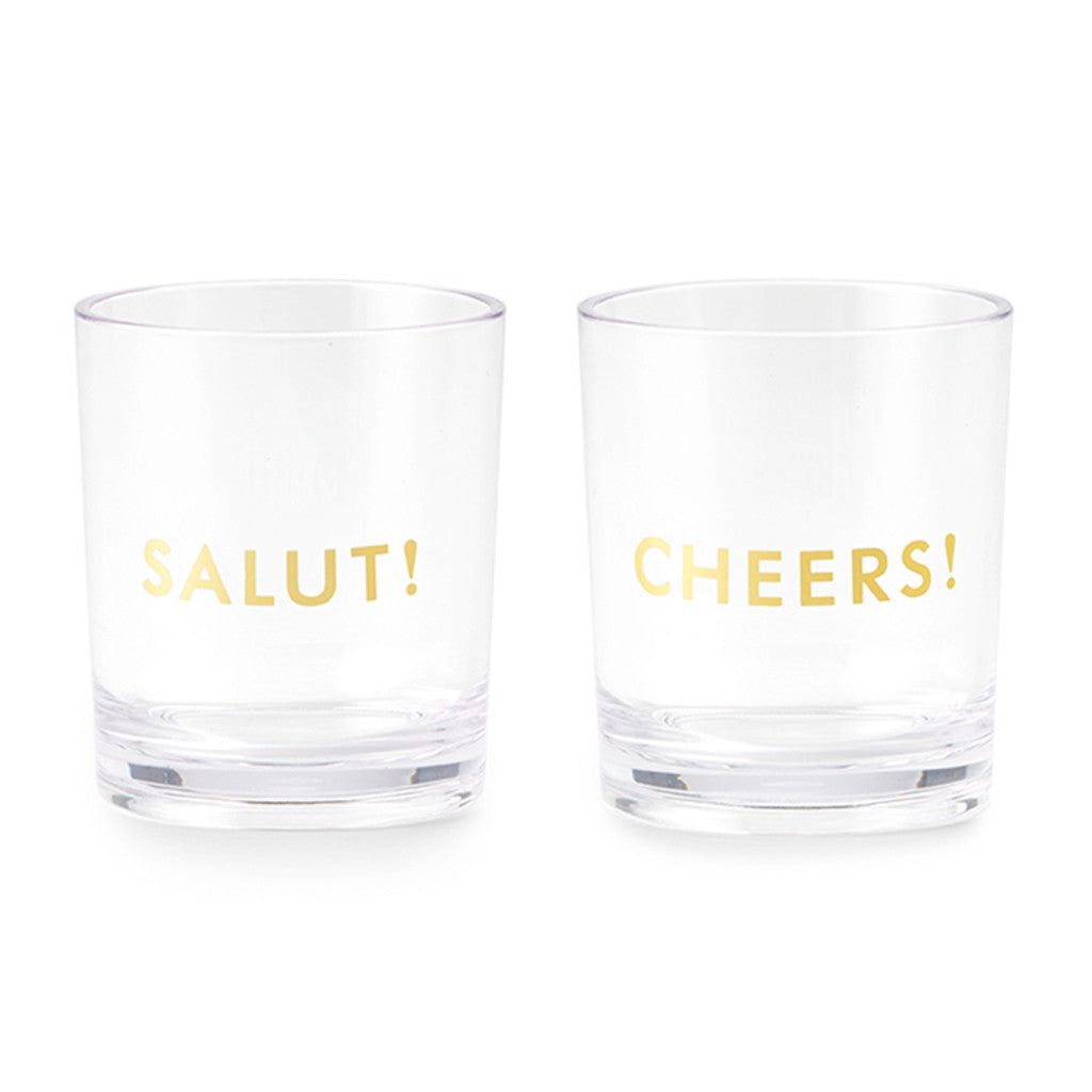 kate spade new york acrylic drinkware set - here's to you - lifeguard-press