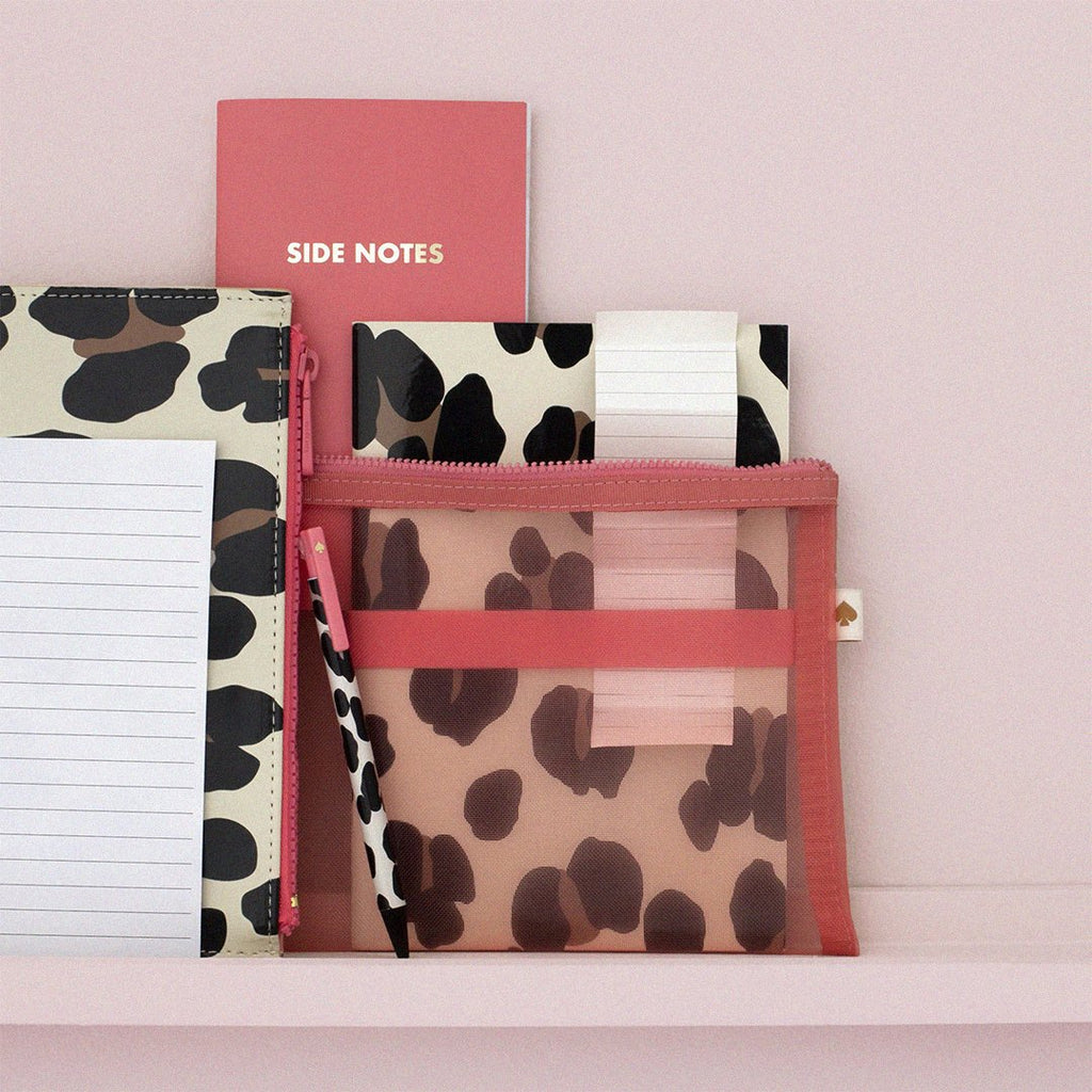 kate spade new york pencil pouch, forest feline
