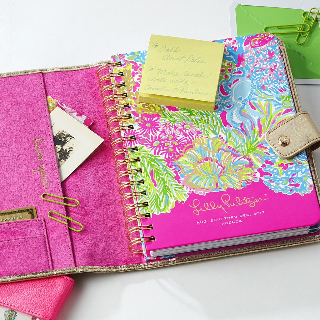 Lilly Pulitzer Agenda Folio - Gold - lifeguard-press - 3