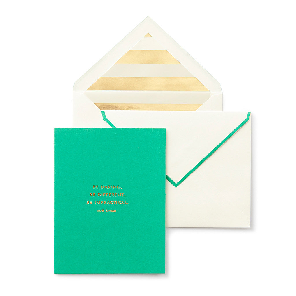 kate spade new york greeting card - be daring - lifeguard-press