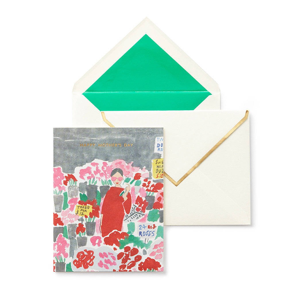 kate spade new york greeting card - roses - lifeguard-press