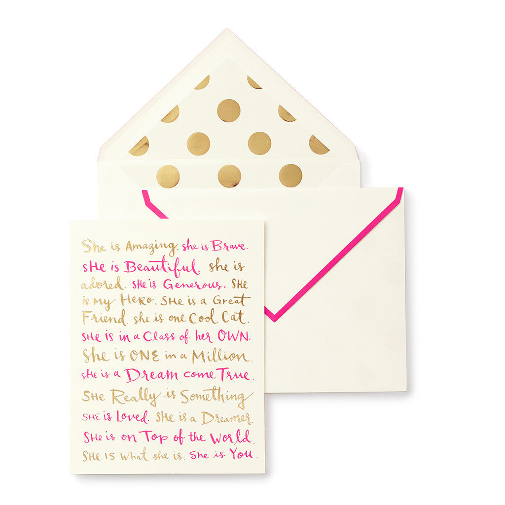 kate spade new york greeting card - she is ... - lifeguard-press