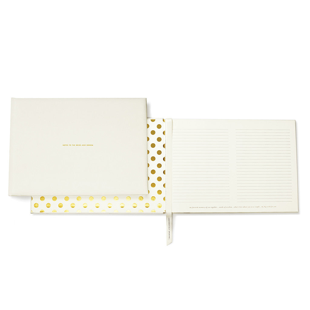 kate spade new york guest book - notes to the bride and groom - lifeguard-press - 1