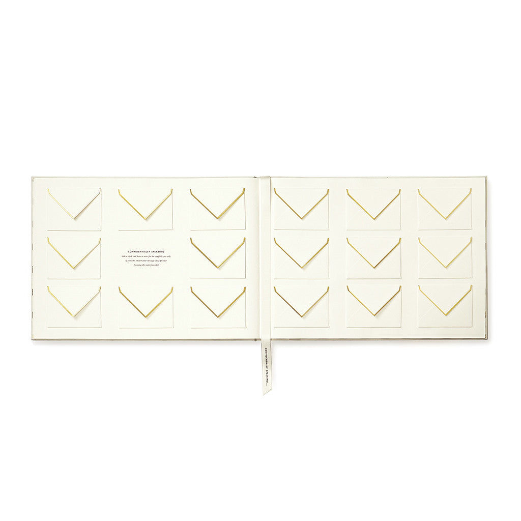 kate spade new york guest book - notes to the bride and groom - lifeguard-press - 2