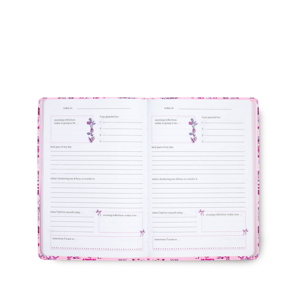 Vera Bradley Guided Journal, Felicity Paisley Pink