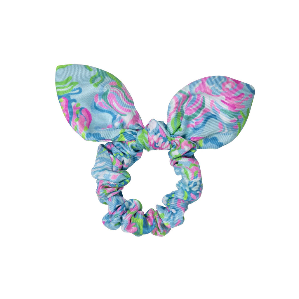 Lilly Pulitzer Hair Scrunchie, Aqua La Vista