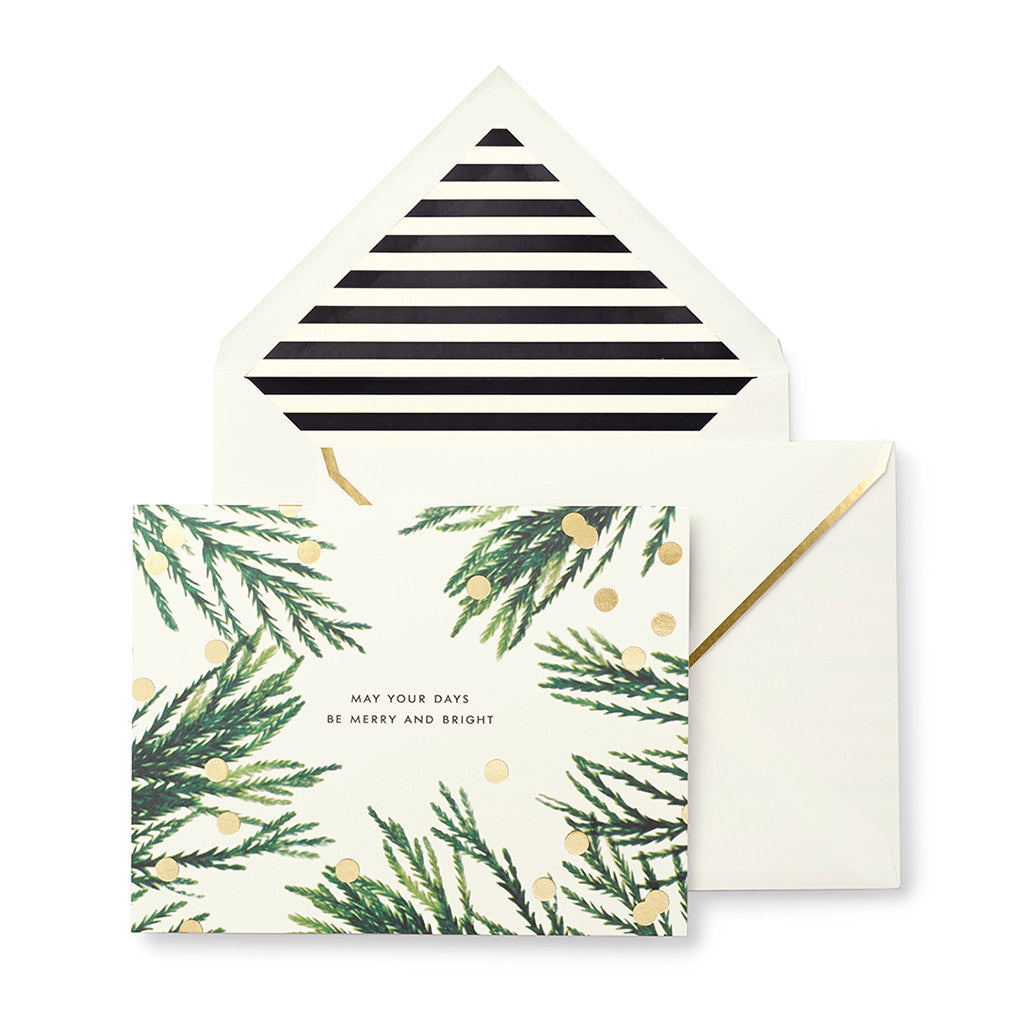 kate spade new york holiday cards - merry & bright - lifeguard-press