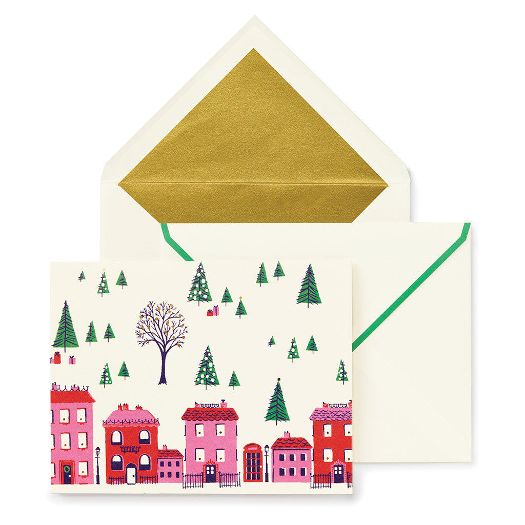 kate spade new york holiday village holiday card set - lifeguard-press
