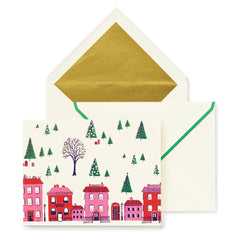Kate spade new york greeting and note cards lifeguard press kate spade new york holiday village holiday card set lifeguard press m4hsunfo