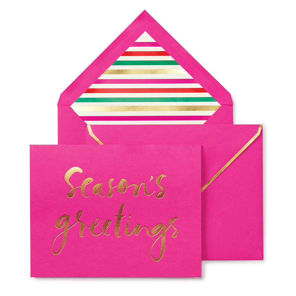 kate spade new york season's greetings holiday card set - lifeguard-press