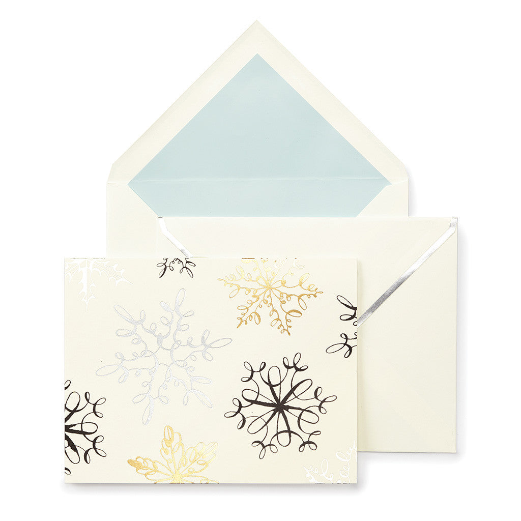 kate spade new york snowflakes holiday card set - lifeguard-press