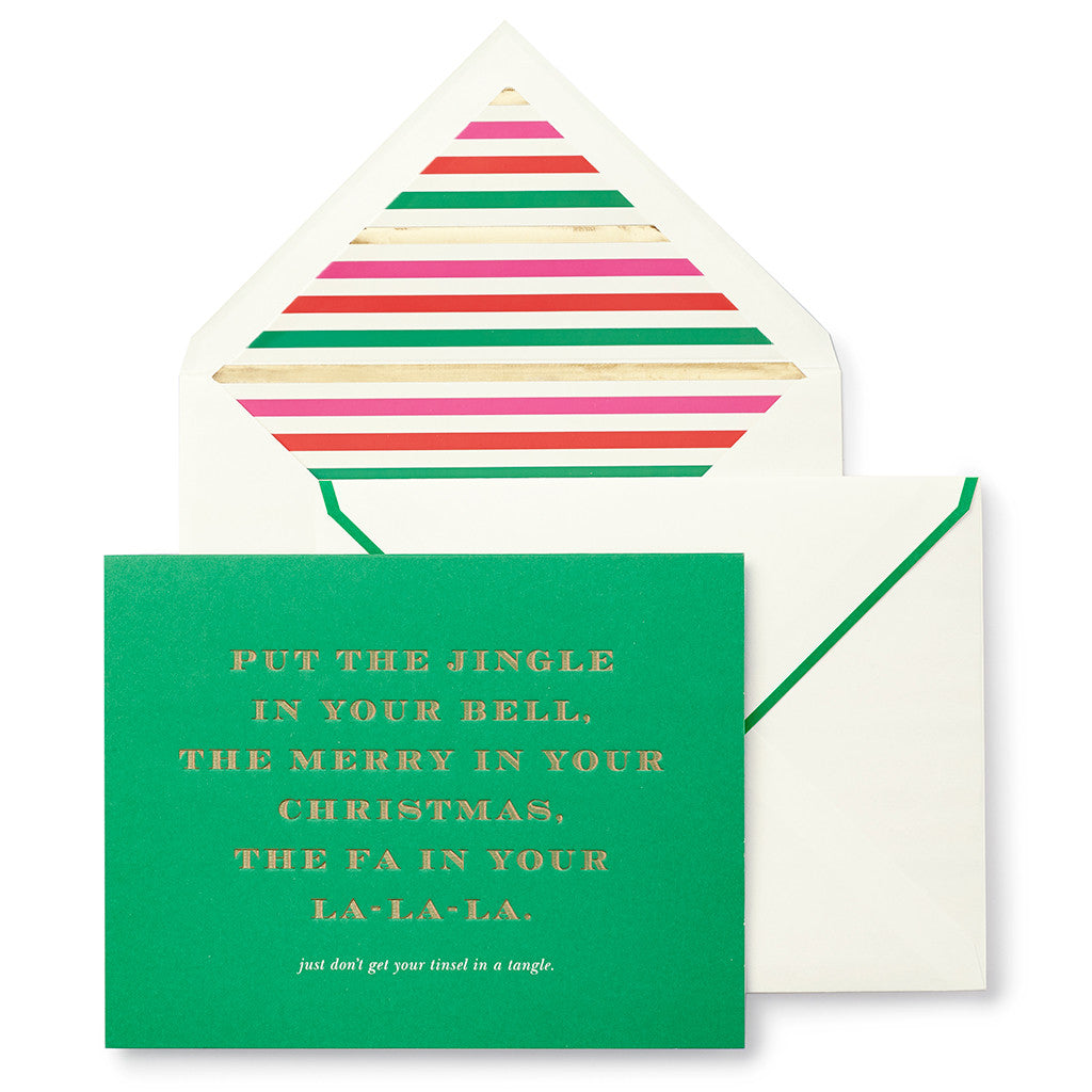 kate spade new york holiday cards - tinsel in a tangle - lifeguard-press - 1