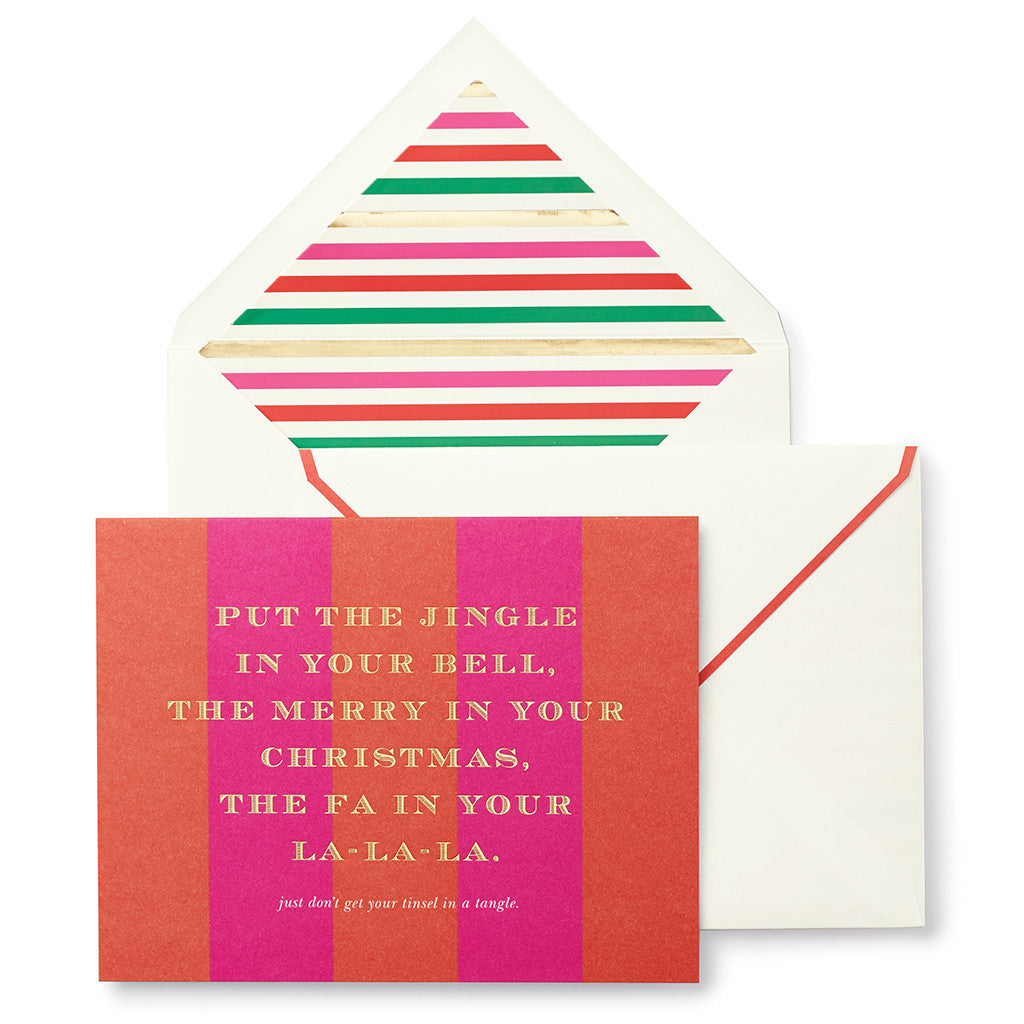 kate spade new york holiday cards - tinsel in a tangle - lifeguard-press - 2