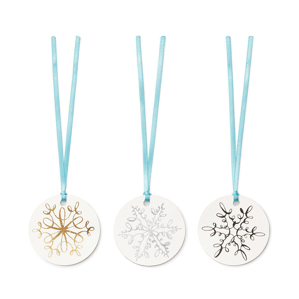 kate spade new york snowflake gift tags - lifeguard-press
