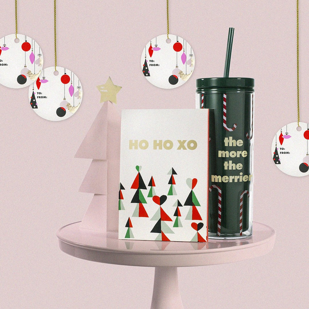 kate spade new york holiday gift tag set