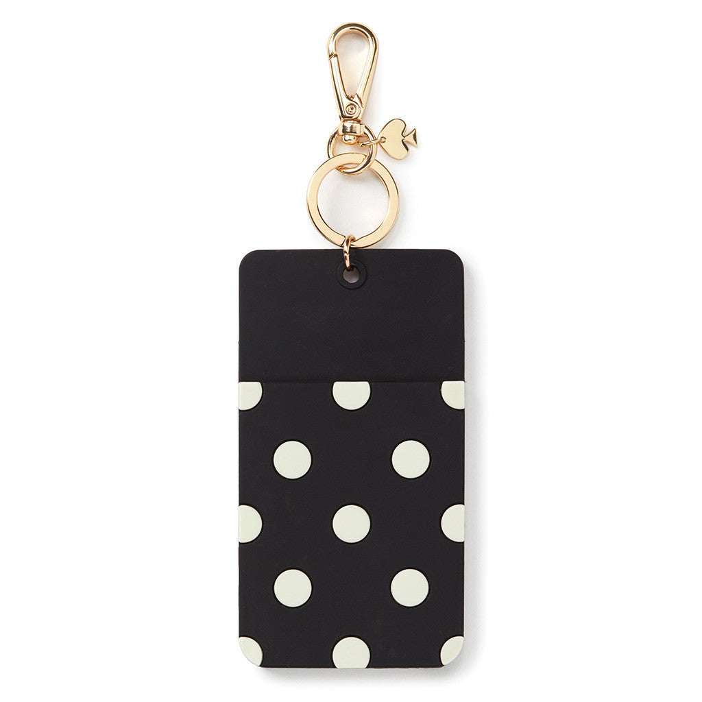kate spade new york why hello there id clip - black dot - lifeguard-press - 1