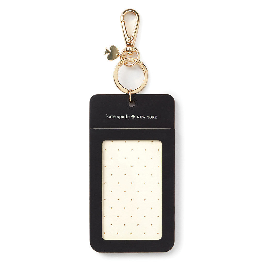 kate spade new york why hello there id clip - black dot - lifeguard-press - 2