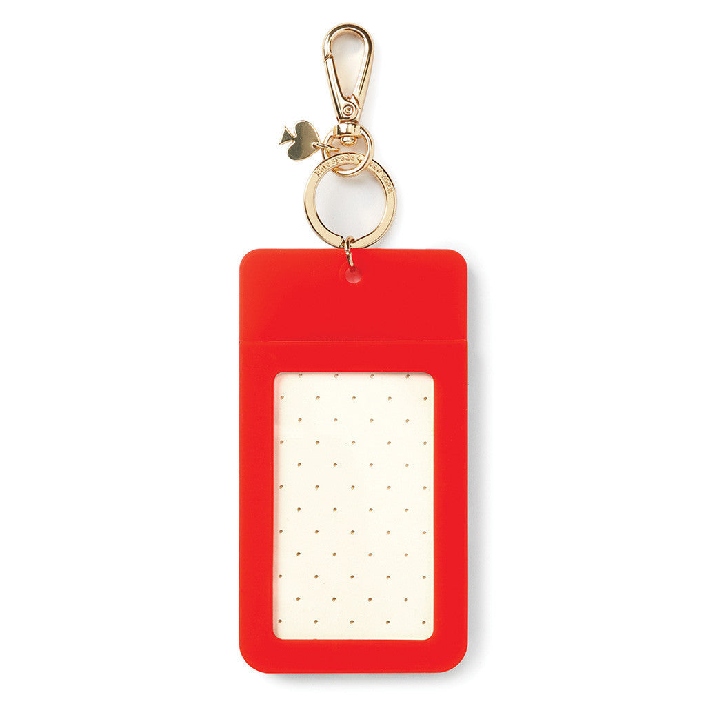 kate spade new york why hello there id clip - pink colorblock - lifeguard-press - 2