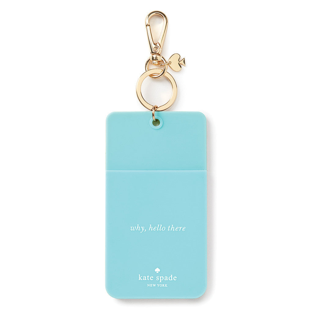 kate spade new york why hello there id clip - turquoise colorblock - lifeguard-press - 1
