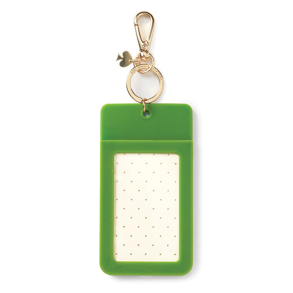 kate spade new york why hello there id clip - turquoise colorblock - lifeguard-press - 2