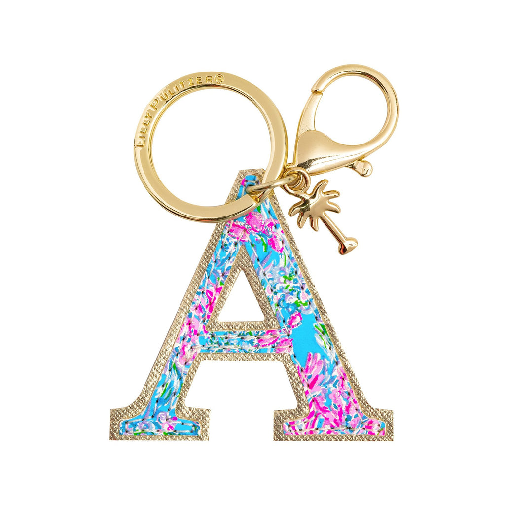 Lilly Pulitzer Initial Keychain, A