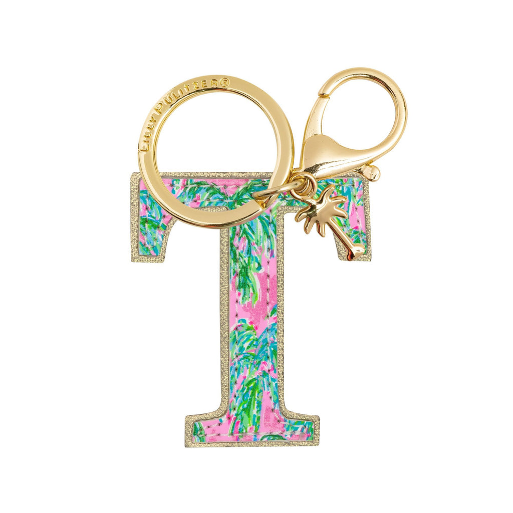 Lilly Pulitzer Initial Keychain, T