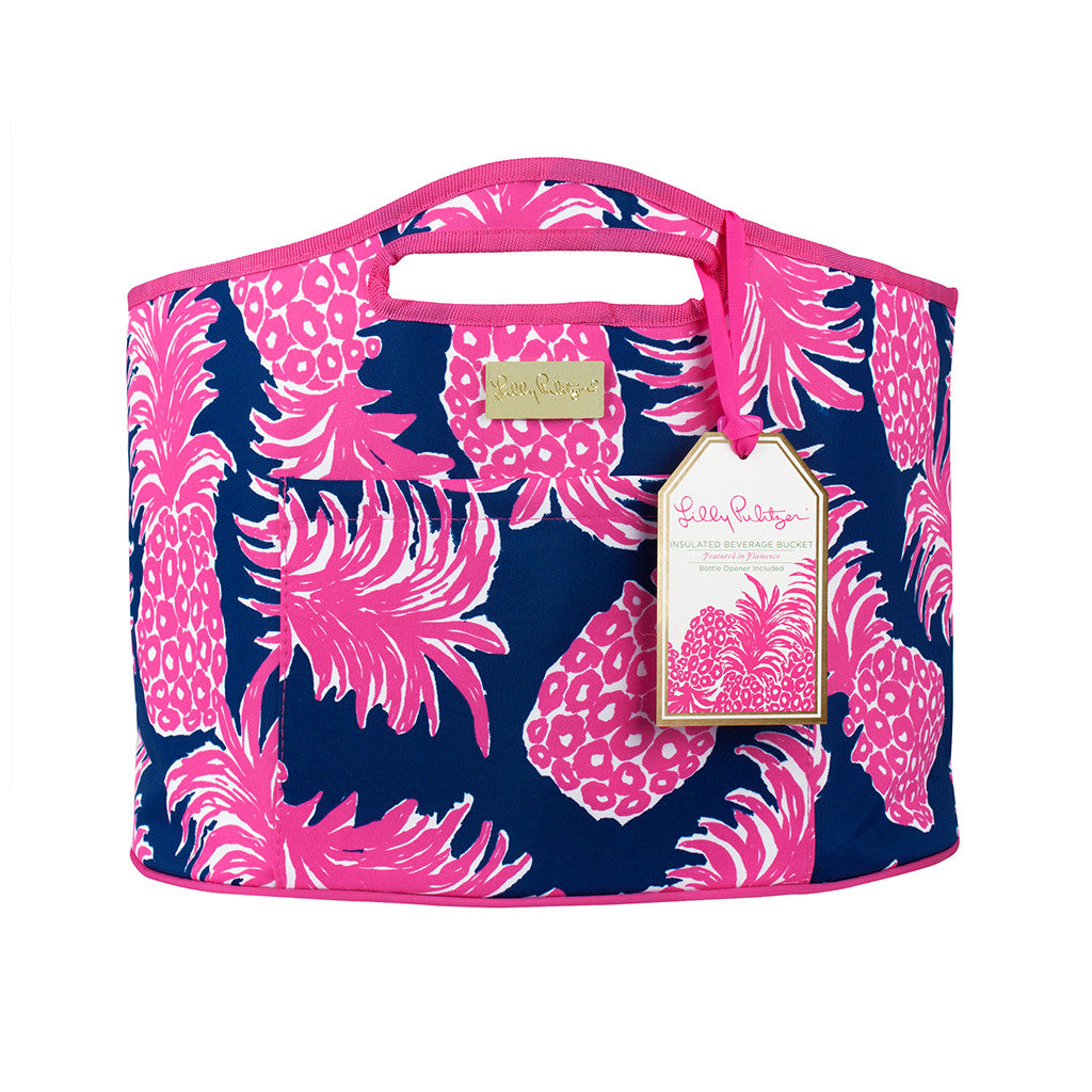 Lilly Pulitzer Oversized Insulated Beverage Bucket - Flamenco - lifeguard-press