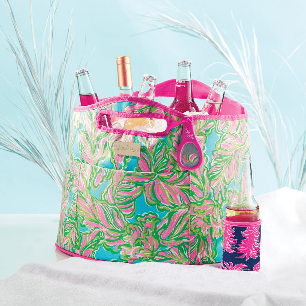Lilly Pulitzer Oversized Insulated Beverage Bucket - Flamenco - lifeguard-press - 2