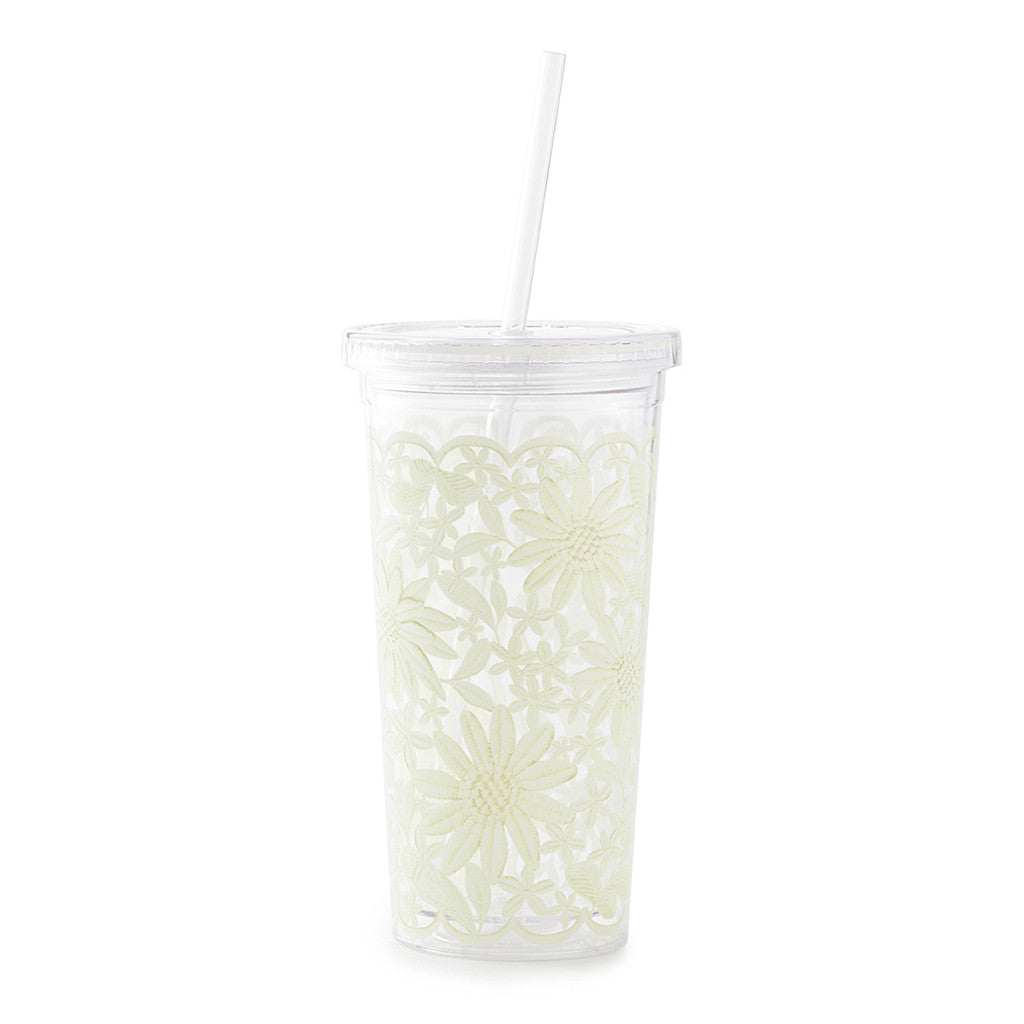 kate spade new york tumbler with straw 20 oz - daisy lace - lifeguard-press