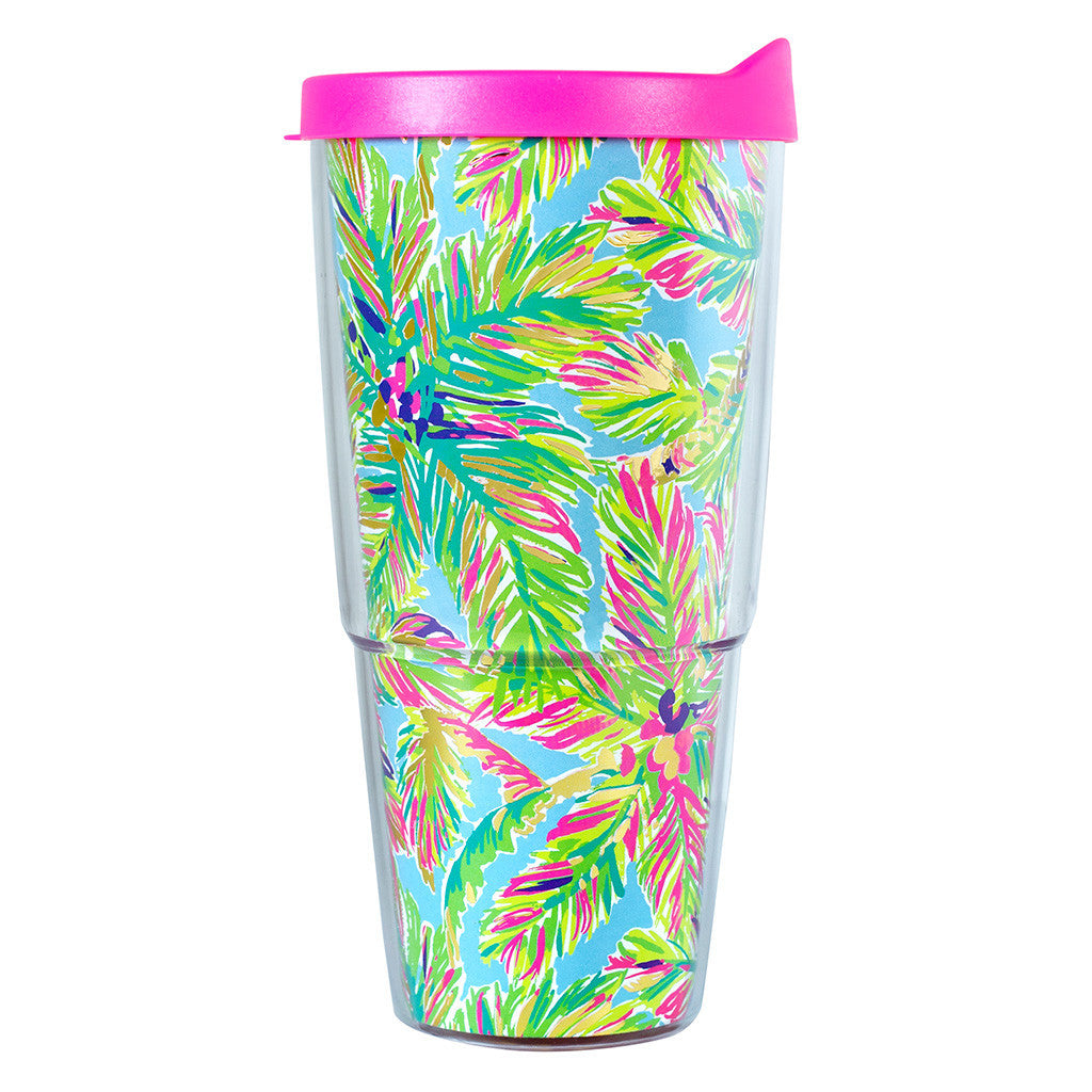 Lilly Pulitzer Double-Walled Tumbler - Island Time - lifeguard-press - 1