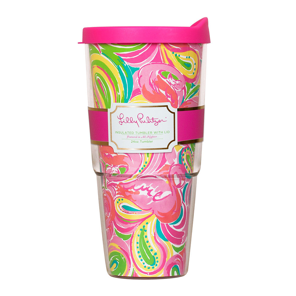 Lilly Pulitzer Insulated Tumbler with Lid - All Nighter - lifeguard-press - 1