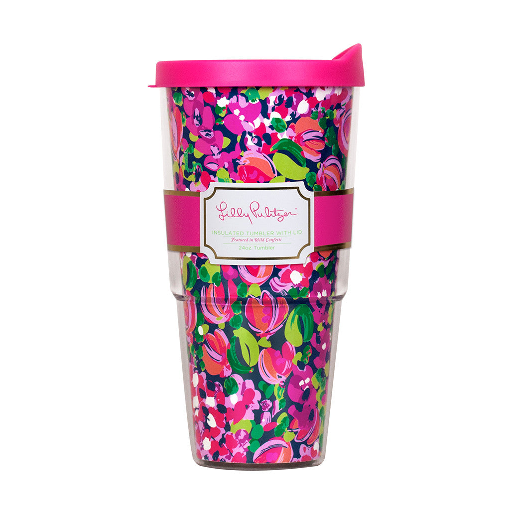 Lilly Pulitzer Insulated Tumbler with Lid - Wild Confetti - lifeguard-press - 1