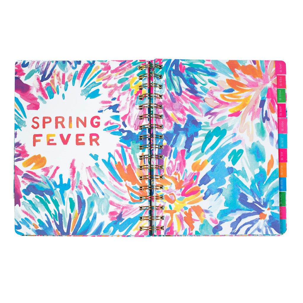 lilly pulitzer 17 month medium agenda flamenco beach