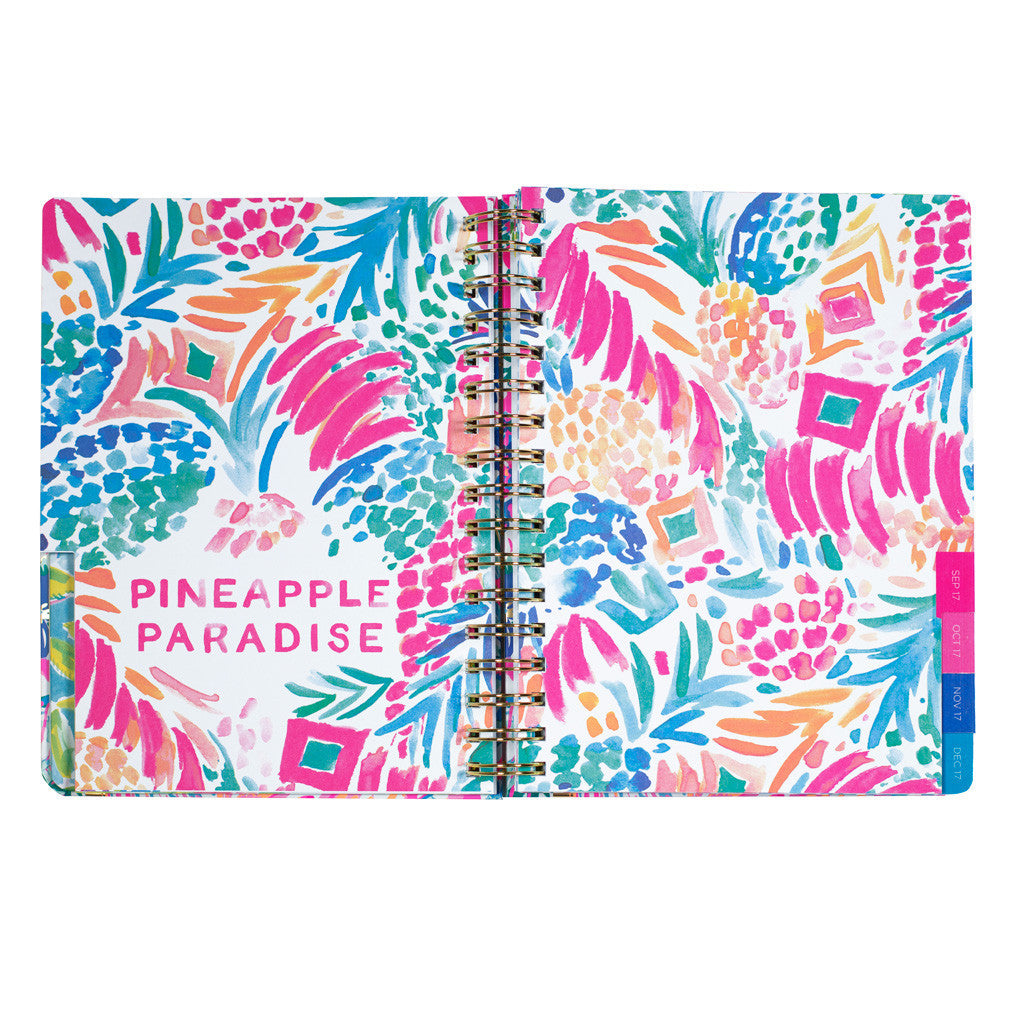 lilly pulitzer 17 month large agenda flamenco beach