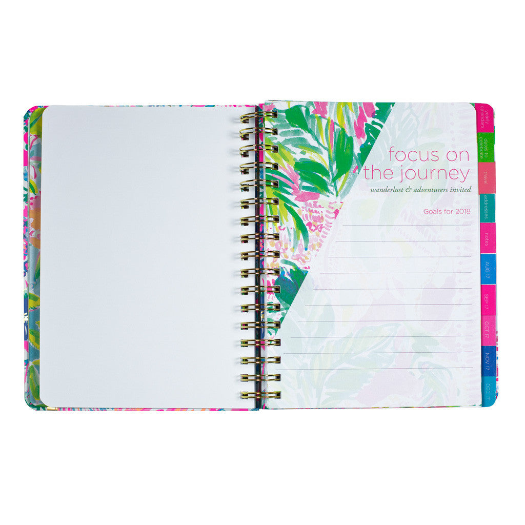 lilly pulitzer 17 month large agenda beach loot