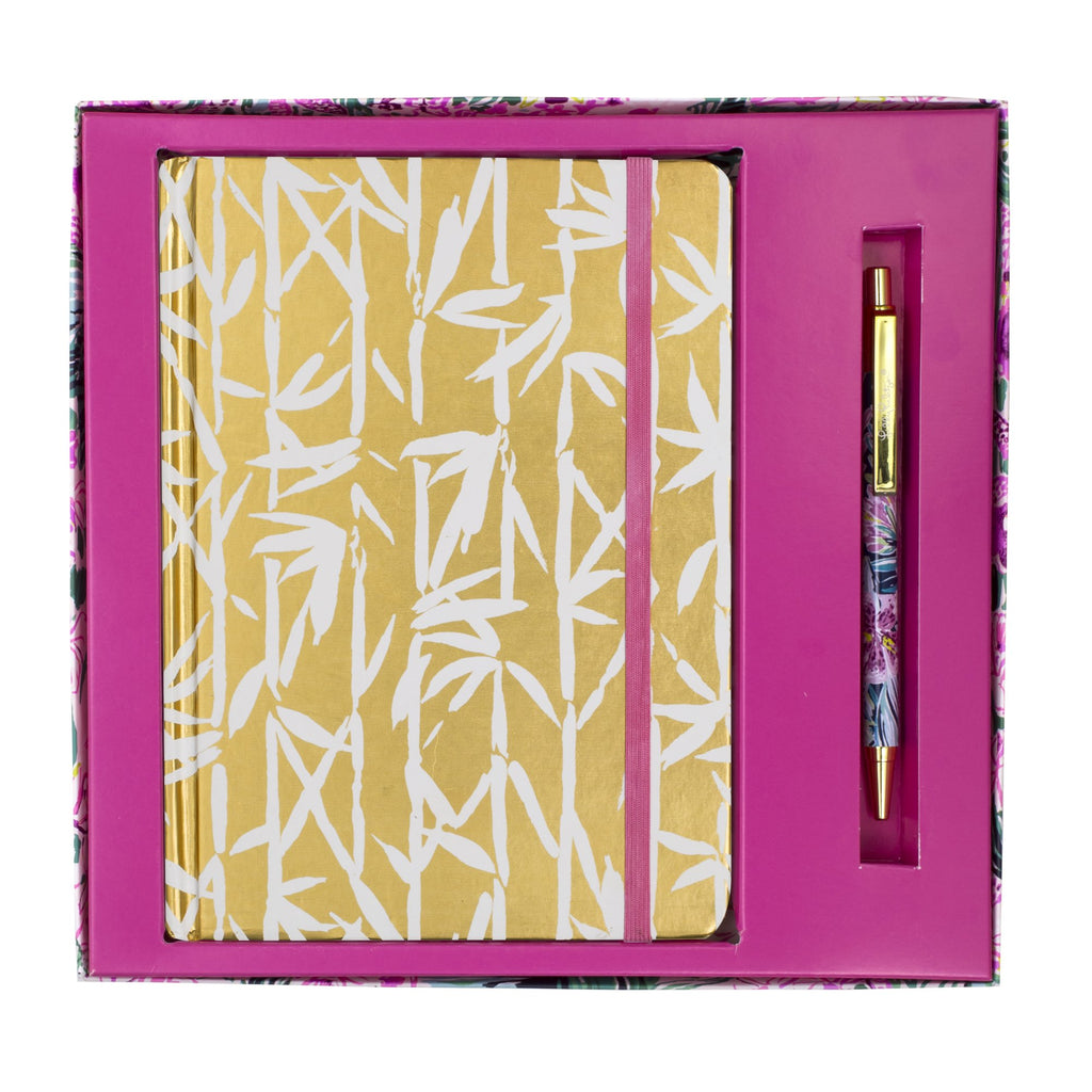 Lilly Pulitzer Journal With Pen, Bamboo Bash