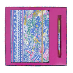 Lilly Pulitzer Journal With Pen, Mermaids Cove