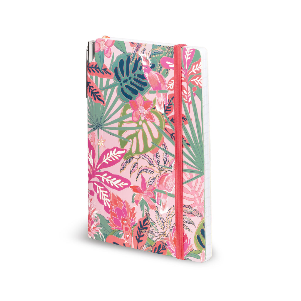 Vera Bradley Journal with Pen, Rain Forest Canopy Pink